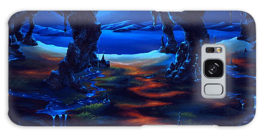 Textured Painting Galaxy Case featuring the painting Living Among Shadows by Jennifer McDuffie