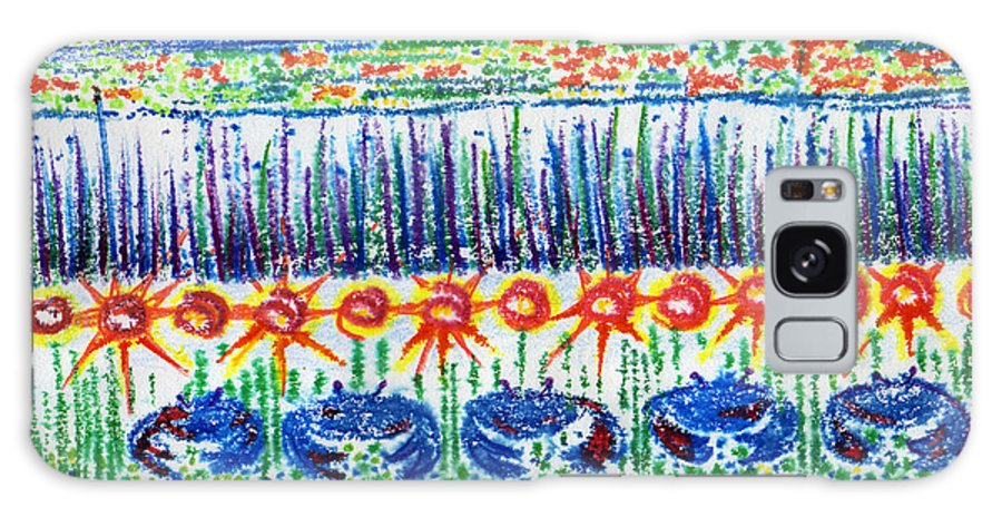 Monoprint Galaxy S8 Case featuring the mixed media Living In The Low Country by Diana Davenport