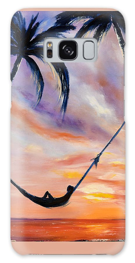 Sunset Galaxy Case featuring the painting Living The Dream by Gina De Gorna