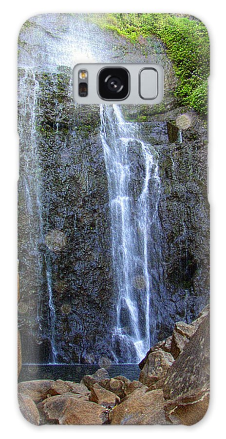 Hawaiian Landscape Galaxy S8 Case featuring the photograph Living Waters - Wailua Falls Maui by Glenn McCarthy Art and Photography
