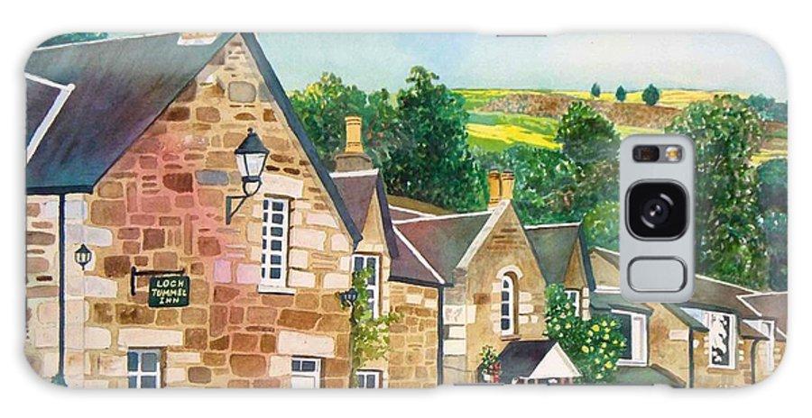 Landscape Galaxy S8 Case featuring the painting Loch Tummel Innn - Scotland by LeAnne Sowa