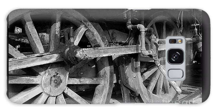 Locomotive Galaxy S8 Case featuring the photograph Locomotive Wheels by Tim Hightower