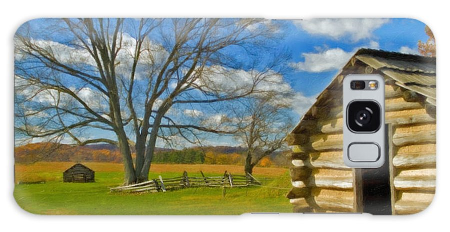 Valley Forge Galaxy S8 Case featuring the photograph Log Cabin Valley Forge Pa by David Zanzinger
