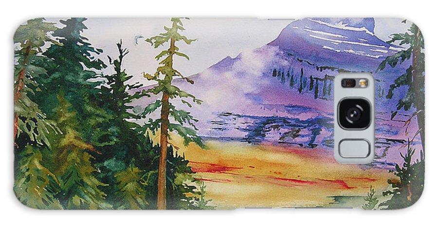 Landscape Galaxy Case featuring the painting Logan Pass by Karen Stark