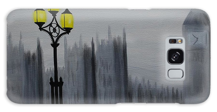 London Galaxy S8 Case featuring the painting London Fog by Emily Page