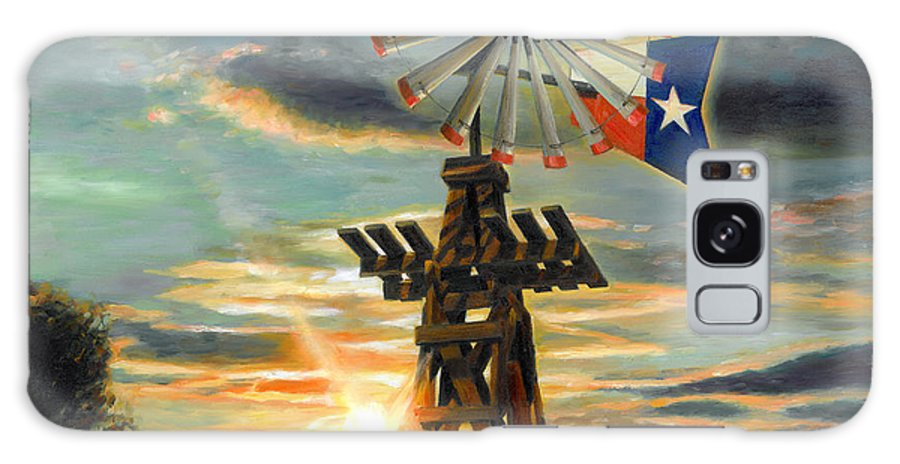 Lone Star Sky Galaxy S8 Case featuring the painting Lone Star Sky by Doug Kreuger