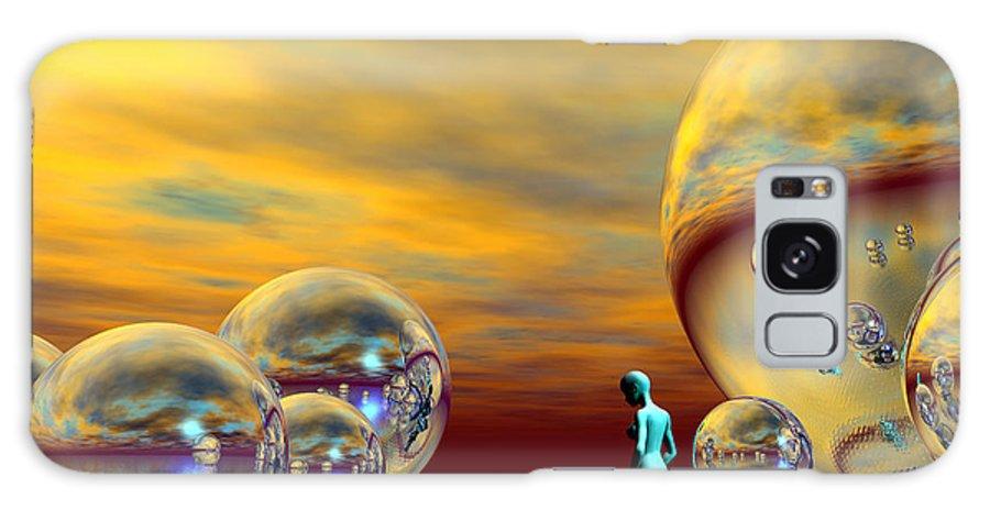 Bryce Galaxy S8 Case featuring the digital art Loneliness by Sandra Bauser Digital Art
