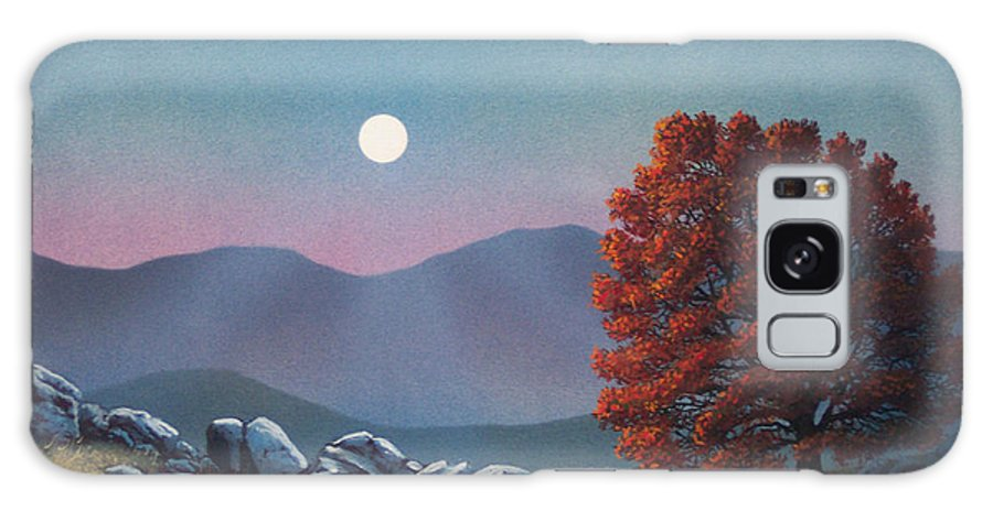 Landscape Galaxy Case featuring the painting Lonely Sentinel by Frank Wilson