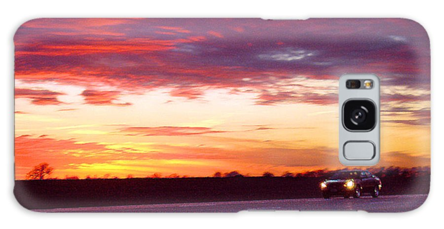 Landscape Galaxy Case featuring the photograph Lonesome Highway by Steve Karol