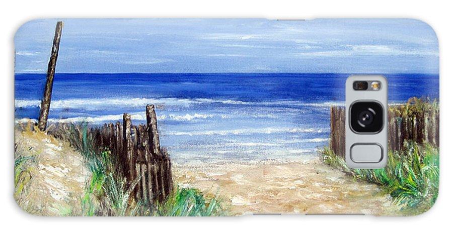 Nj Shore Galaxy Case featuring the painting Long Beach Island Nj by Leonardo Ruggieri