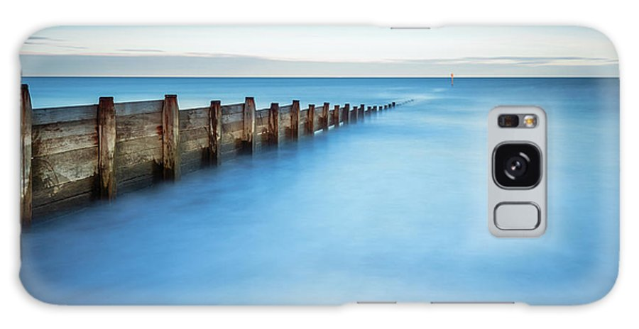 Northumberland Galaxy S8 Case featuring the photograph Long Exposure Of Blyth Beach Groyne by David Head