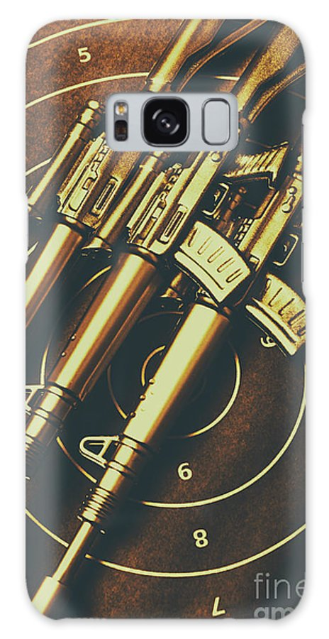Weaponry Galaxy S8 Case featuring the photograph Long Range Tactical Rifles by Jorgo Photography - Wall Art Gallery