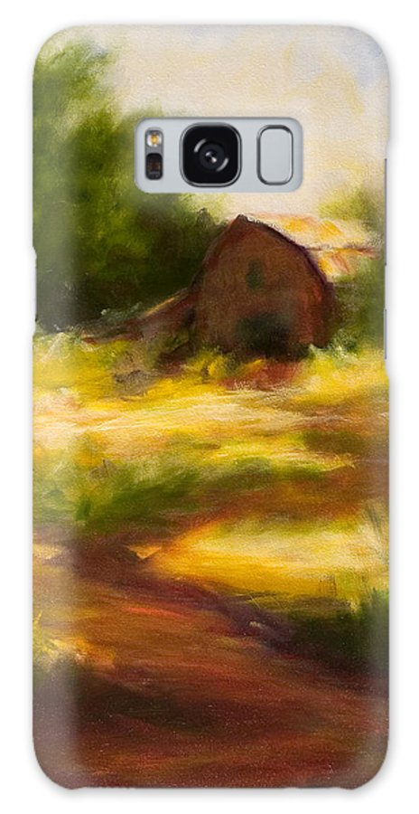 Landscape Galaxy Case featuring the painting Long Road Home by Shannon Grissom