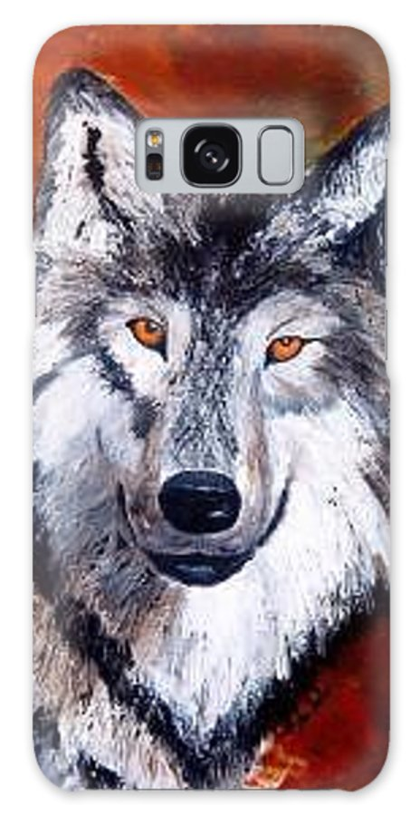Palette Knife Galaxy S8 Case featuring the painting Look Into My Eyes by Tami Booher