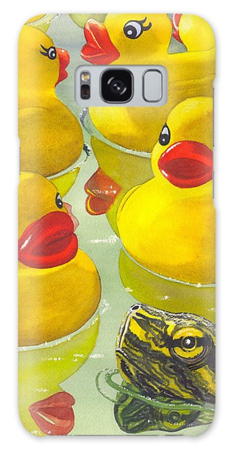 Ducky Galaxy S8 Case featuring the painting Look Its A Turtle Head by Catherine G McElroy