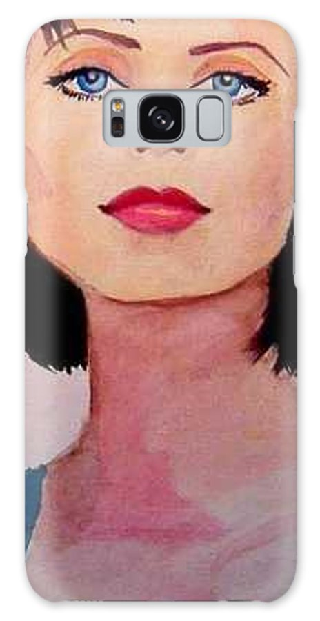 Sexy Lady Galaxy S8 Case featuring the painting Look by Laura Rispoli