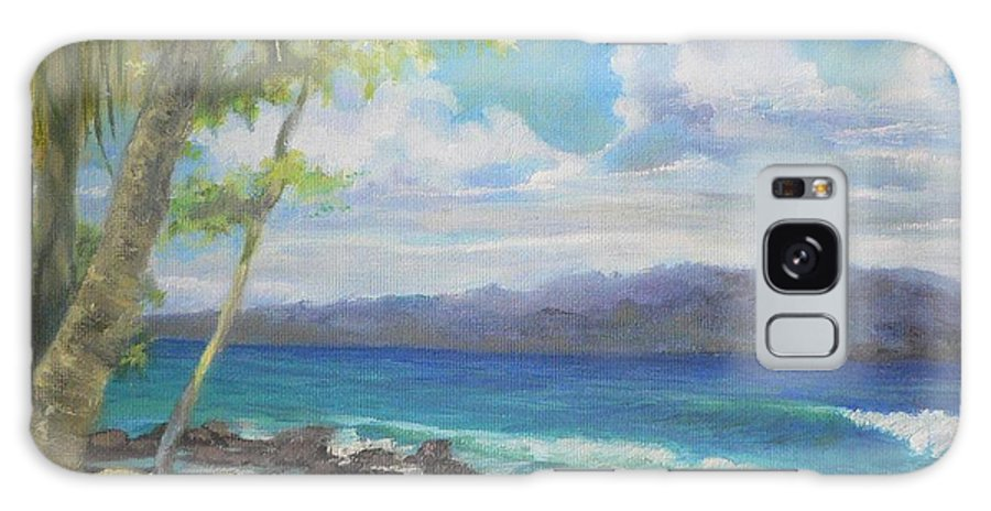 Sea. Seascape Galaxy S8 Case featuring the painting Looking At Panama by Kathryn Colvig