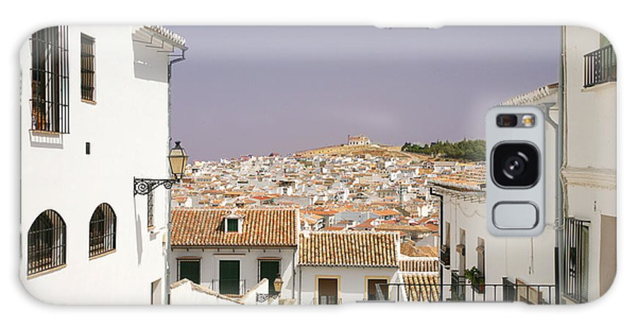 Antequera Galaxy S8 Case featuring the photograph Looking Down Over Antequera From Near The Church Of Santa Maria La Mayor by Mal Bray