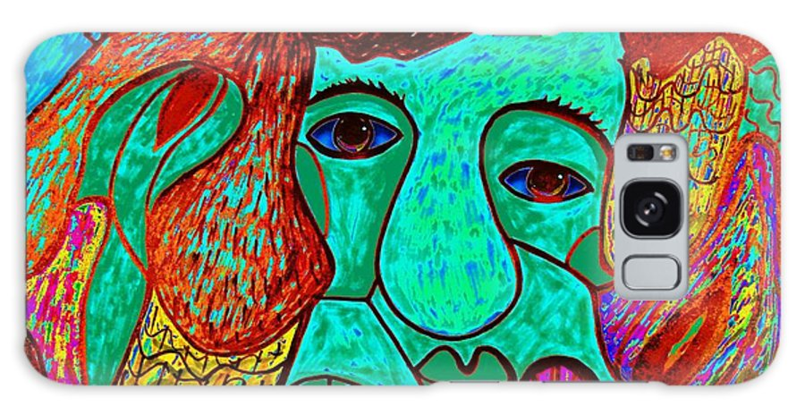 Man Galaxy S8 Case featuring the painting Looking For Love by Natalie Holland