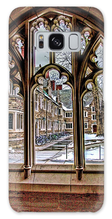 Current Galaxy S8 Case featuring the photograph Looking Through An Arched Window At Princeton University At The Courtyard by Geraldine Scull
