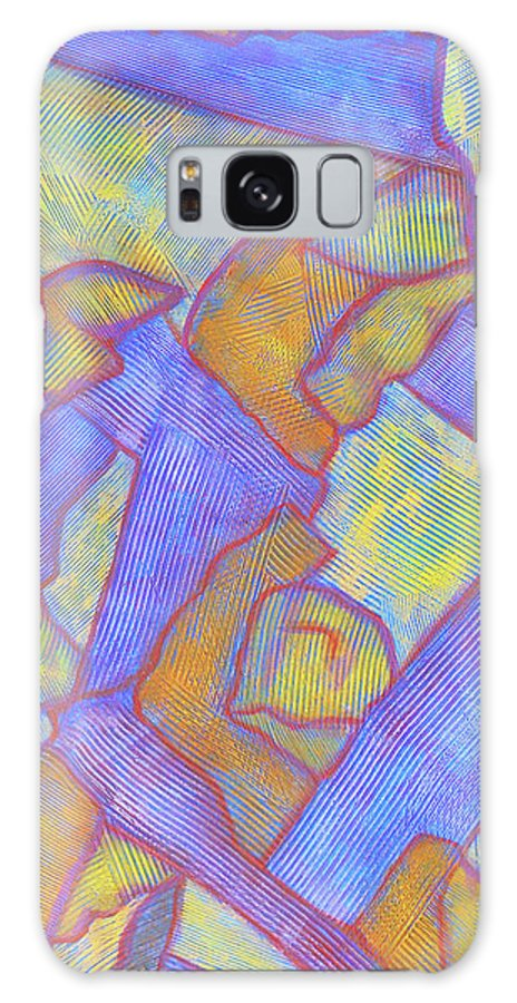 Abstract Galaxy S8 Case featuring the painting Looking Up by Bobby Jones