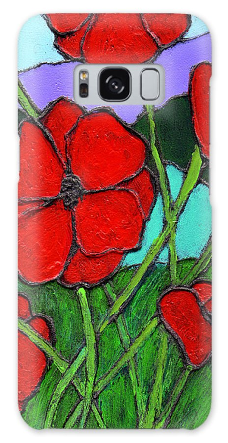 Poppies Galaxy S8 Case featuring the painting Looking Up by Wayne Potrafka