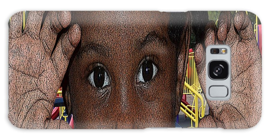Kids Day Galaxy S8 Case featuring the photograph Loooking by Cleotha Williams