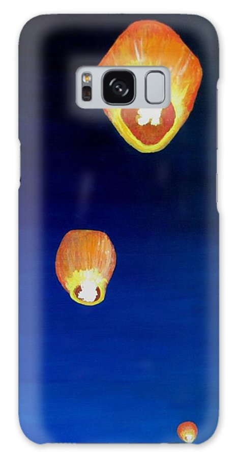 Chinese Lanterns Galaxy S8 Case featuring the painting Lorraine's Lanterns by Jack Skinner