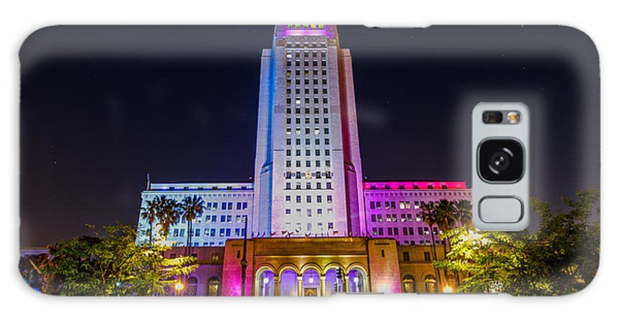 Los Angeles Galaxy S8 Case featuring the photograph Los Angeles City Hall by Art K
