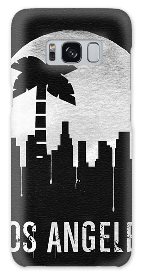 Los Angeles Galaxy S8 Case featuring the digital art Los Angeles Landmark Black by Naxart Studio