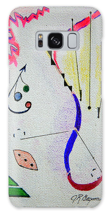 Abstract Galaxy Case featuring the mixed media Lost Directions by J R Seymour
