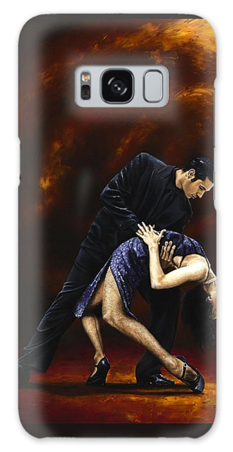 Tango Galaxy S8 Case featuring the painting Lost in Tango by Richard Young