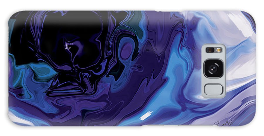 Blue Galaxy S8 Case featuring the digital art Lost-in-to-the-eye by Rabi Khan