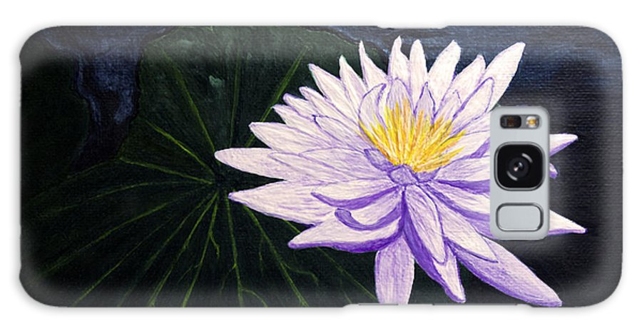 Original Painting Galaxy S8 Case featuring the painting Lotus Blossom At Night by Patricia Griffin Brett