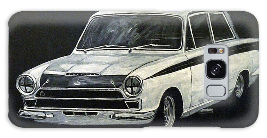 Lotus Cortina Galaxy S8 Case featuring the painting Lotus Cortina by Richard Le Page