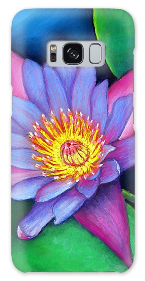 Flower Galaxy Case featuring the painting Lotus Divine by Minaz Jantz