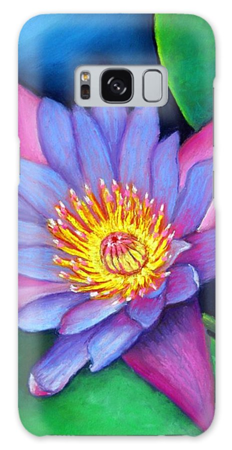 Flower Galaxy S8 Case featuring the painting Lotus Divine by Minaz Jantz