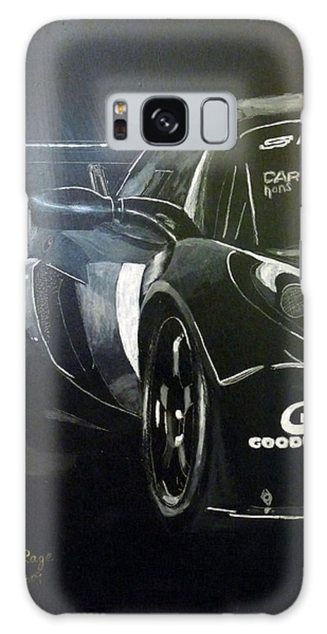 Lotus Exige Gt3 Galaxy S8 Case featuring the painting Lotus Exige Gt3 Side by Richard Le Page