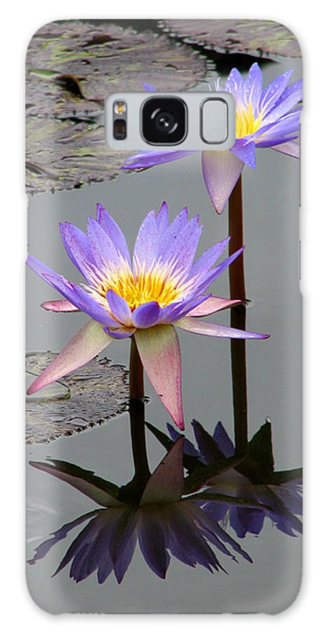 Lily Galaxy Case featuring the photograph Lotus Reflection 4 by David Dunham