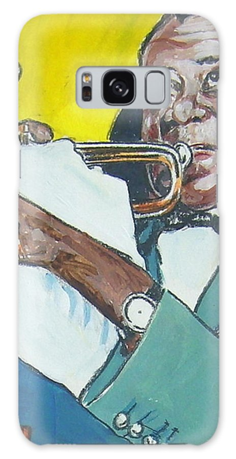 Louis Armstrong Galaxy S8 Case featuring the painting Louis Armstrong by Bryan Bustard