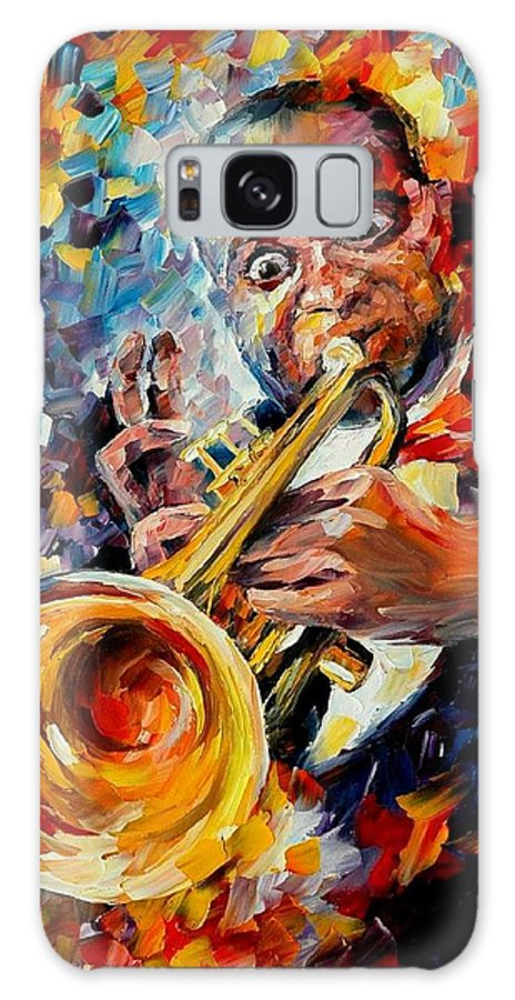 Music Galaxy S8 Case featuring the painting Louis Armstrong by Leonid Afremov