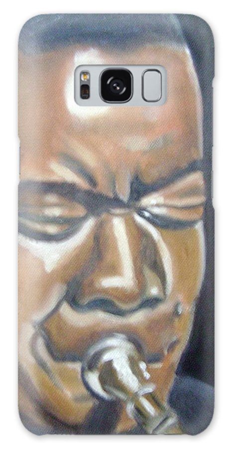 Louis Armstrong Galaxy Case featuring the painting Louis Armstrong by Toni Berry
