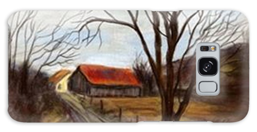 Barn Galaxy S8 Case featuring the painting Louisa Kentucky Barn by Gail Kirtz