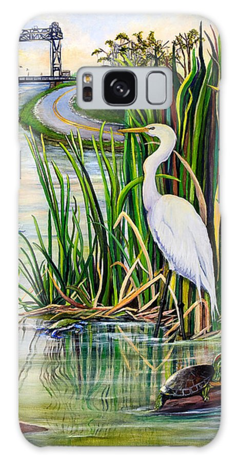 Louisiana Galaxy S8 Case featuring the painting Louisiana Wetlands by Elaine Hodges