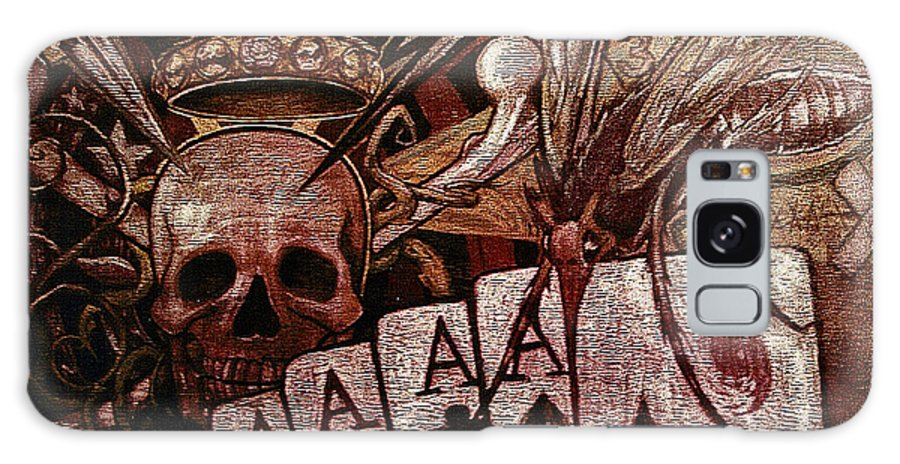 Skull Galaxy Case featuring the painting Louisiana's Ruin by Will Le Beouf