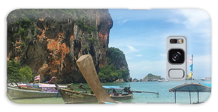 Thailand Galaxy Case featuring the photograph Lounging Longboats by Ell Wills