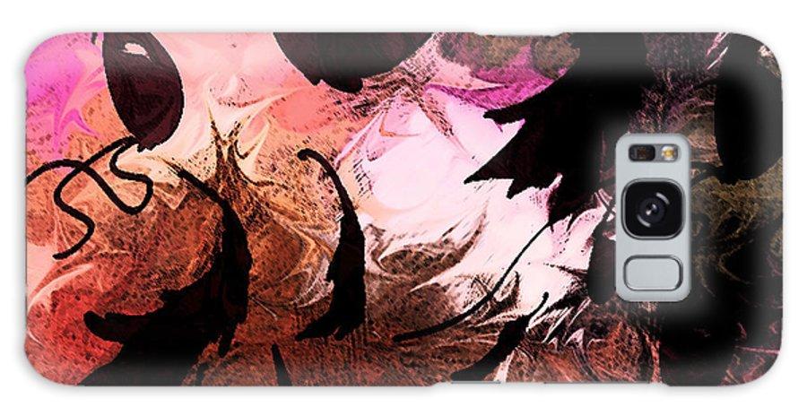 Abstract Galaxy S8 Case featuring the digital art Love Affair by Rachel Christine Nowicki