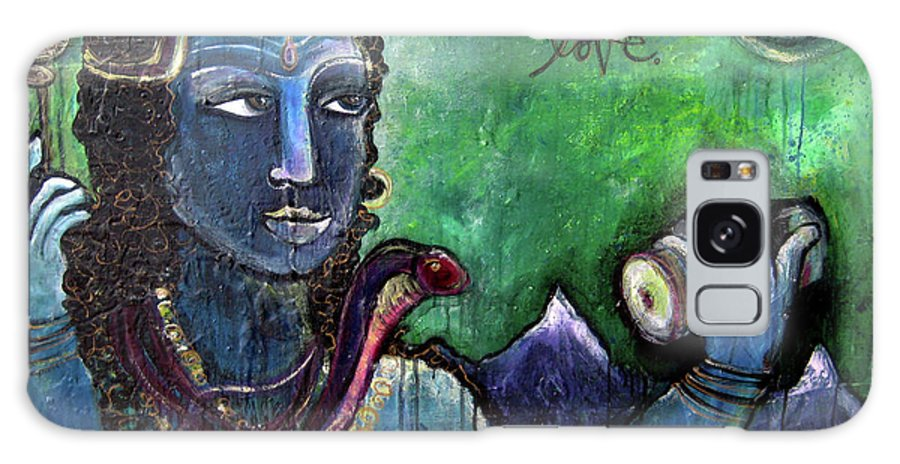 Shiva Galaxy S8 Case featuring the painting Love For Shiva by Laurie Maves ART