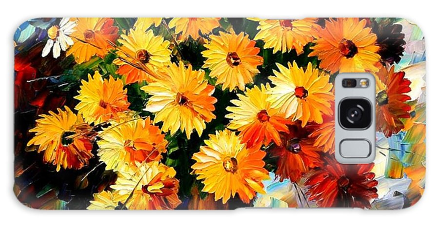 Flowers Galaxy S8 Case featuring the painting Love Irradiation by Leonid Afremov