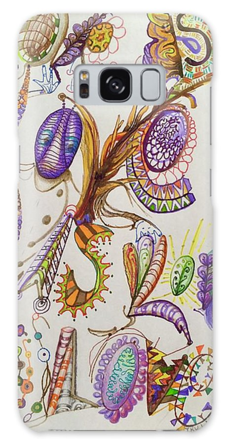 Lettering Galaxy Case featuring the drawing Love Is by Suzanne Udell Levinger